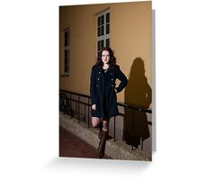 Portrait at night Greeting Card