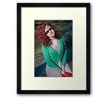 Girl in the sun Framed Print