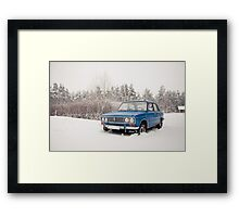 VAZ 2103 in winter Framed Print