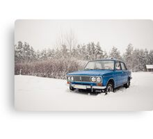 VAZ 2103 in winter Canvas Print