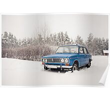 VAZ 2103 in winter Poster