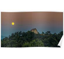 Moon landscape Poster