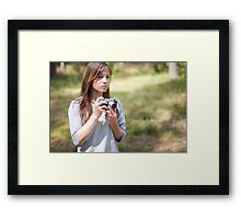 Selfportrait with a camera Framed Print