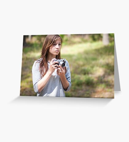 Selfportrait with a camera Greeting Card