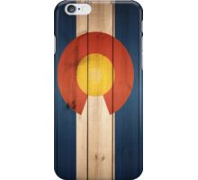 Colorado State Flag Wood iPhone Case/Skin