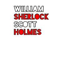 William Sherlock Scott Holmes Photographic Print