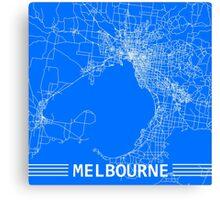 Melbourne by Road (Blue) Canvas Print