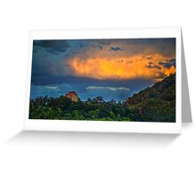 Incredible sunset Greeting Card
