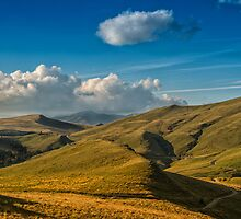 Mountain sunset by Dobromir Dobrinov