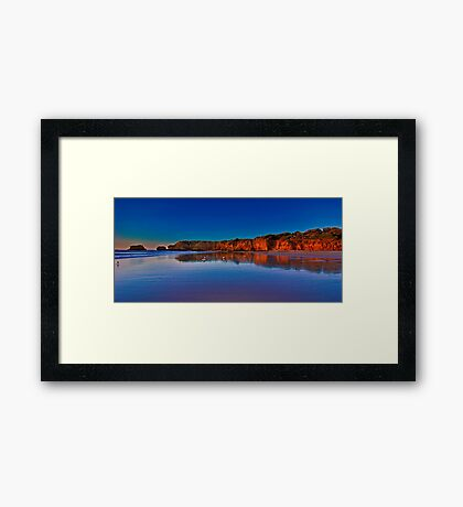 """Rocky Point Reflections"" Framed Print"