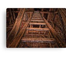 Wooden ladder Canvas Print