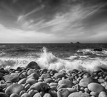 Cot Valley Porth Nanven 5 Black and White by Chris Thaxter