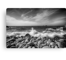 Cot Valley Porth Nanven 5 Black and White Canvas Print