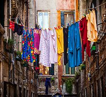 Laundry line by Dobromir Dobrinov