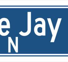 Blue Jay Way, Los Angeles Street Sign, California Sticker