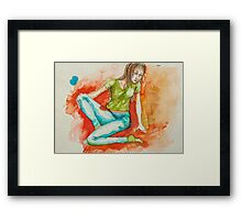 Portrait from my mind  Framed Print