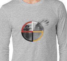 crow medicine wheel Long Sleeve T-Shirt