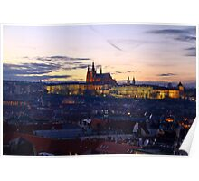 Old Town and St. Vitus Cathedral Poster