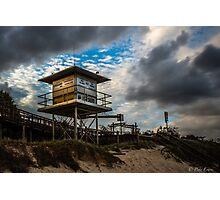 A lifeguard tower set Photographic Print