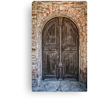 Old wooden door Canvas Print