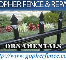 Black vinyl chain link by gopherfence002