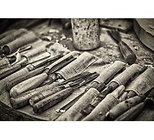 Work Tools: Chisel - monochrome Photographic Print
