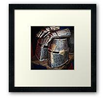 Knight helmet Framed Print