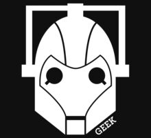 Geek Shirt #1 Cyberman (White) Kids Clothes