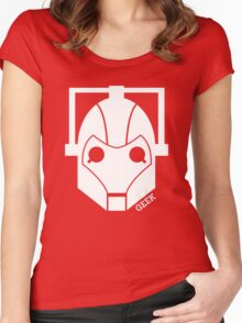 Geek Shirt #1 Cyberman (White) Women's Fitted Scoop T-Shirt