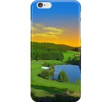Summer sunset at the golf club | landscape photography iPhone Case/Skin