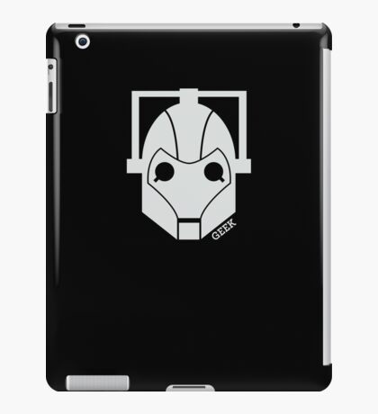 Geek Shirt #1 Cyberman (White) iPad Case/Skin
