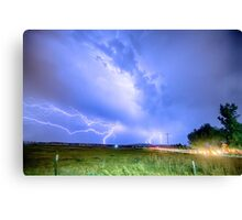 75th and Woodland Lightning Thunderstorm View HDR Canvas Print
