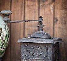 Retro coffee mill by Dobromir Dobrinov