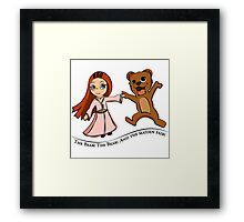 The Bear And The Maiden Fair Framed Print