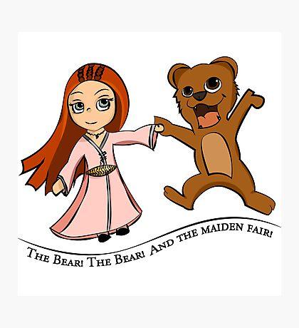 The Bear And The Maiden Fair Photographic Print