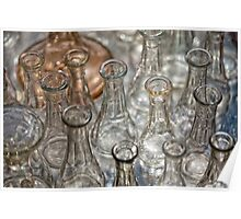 Glass bottles Poster