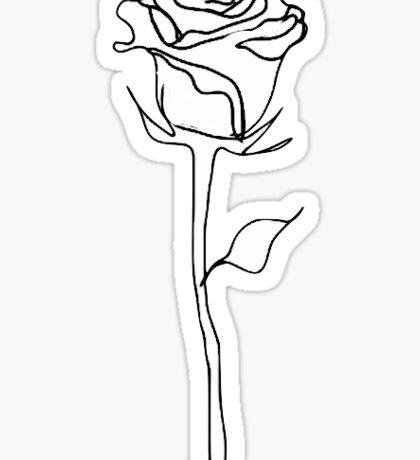 rose outline  Sticker