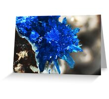 Blue Star Of India (Pentagonite) Greeting Card