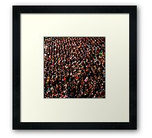 Twickenham crowd Framed Print