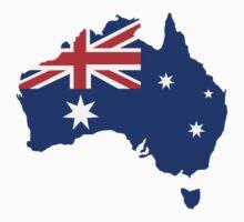 Australia map flag Baby Tee