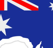 Australia map flag Sticker