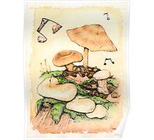 Mushroom Music Poster
