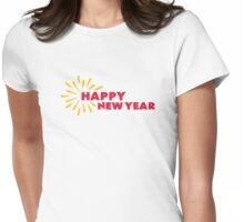 Happy New Year fireworks Womens Fitted T-Shirt