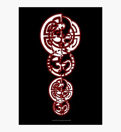 Celtic Ohm Totem Photographic Print