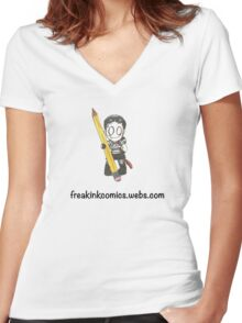 Freak Ink Comics Women's Fitted V-Neck T-Shirt