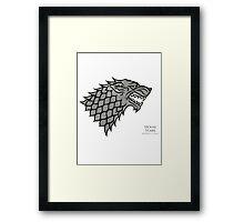 Game of Thrones - House Stark  Framed Print