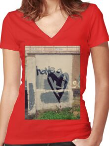 Have A Harte Tee Women's Fitted V-Neck T-Shirt