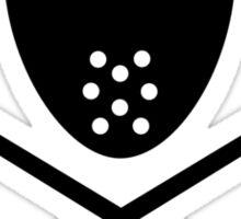Crossed hockey sticks mask Sticker