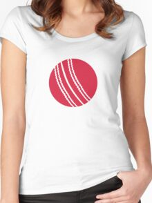 Cricket ball Women's Fitted Scoop T-Shirt