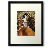 Japanese Paper Girl Framed Print